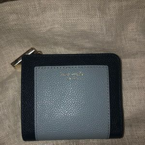 Kate Spade two toned blue wallet